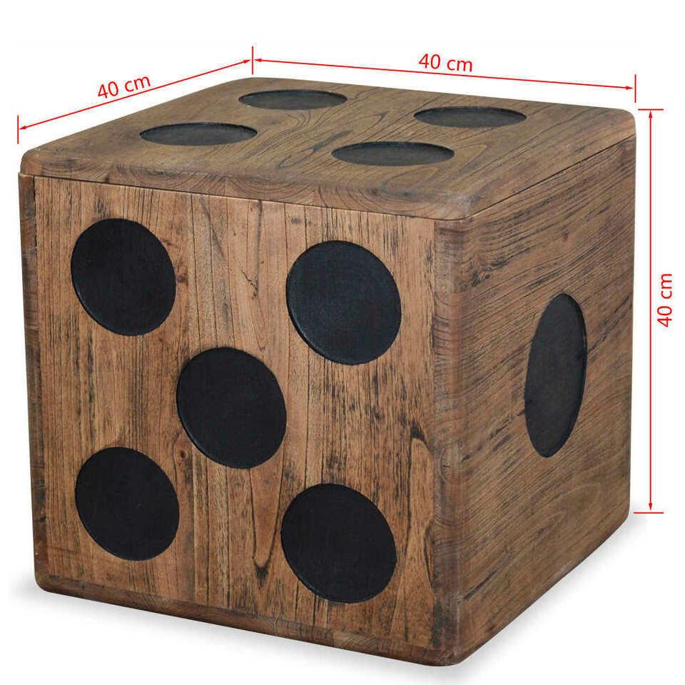 Scatola in Legno Mindi 40x40x40 cm Design a Forma di Dado 5