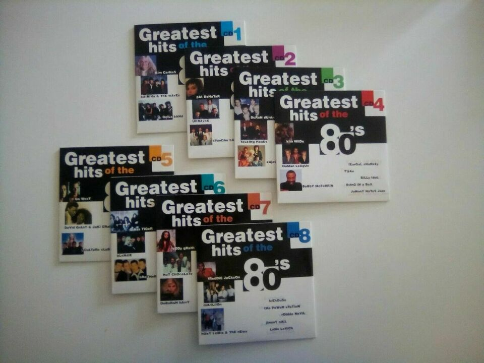 """Cd box """"greatest hits of the 80's"""""""