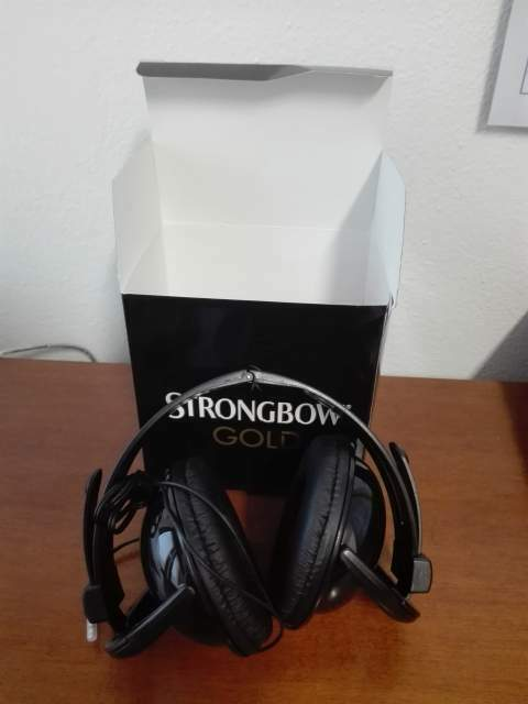 Cuffie Strongbow Gold -nuove -