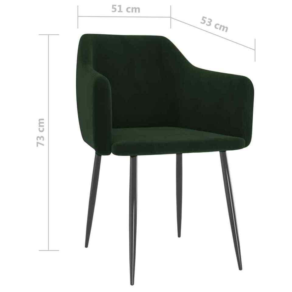 Sedie da Pranzo 2 pz Verde Scuro in Velluto 7