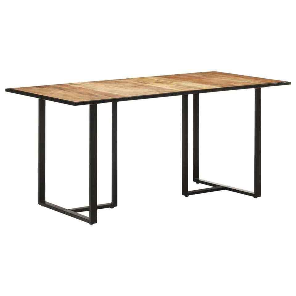 Tavolo da Pranzo 160 cm in Legno Massello di Mango Grezzo