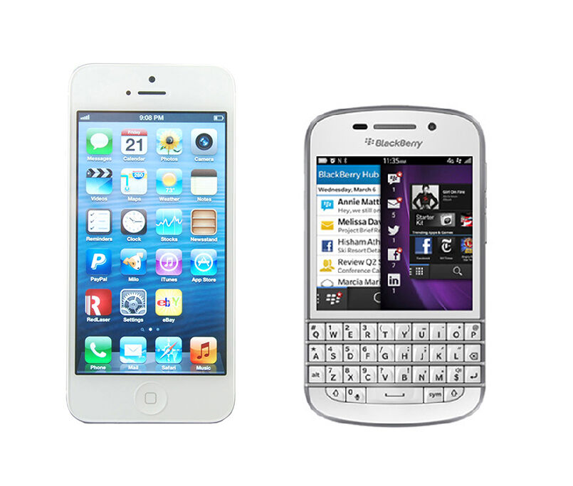 Blackberry Q10 vs iPhone 5