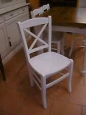 Sedia legno cucina soggiorno bianco shabby provenzale