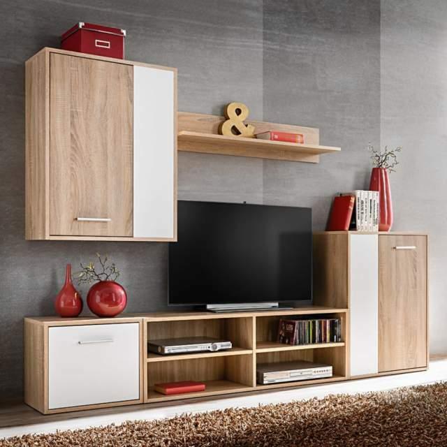 Parete Mobili Porta Tv Design.Vidaxl Set Parete Attrezzata Con Mobile A Milano Kijiji