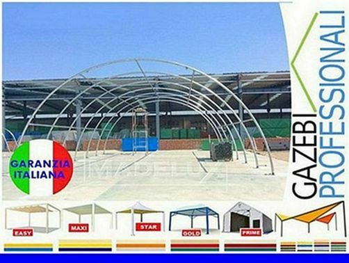 Capannone 20x9 deposito rotoballe agritunnel PVC 3