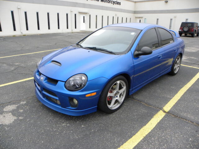 dodge neon srt 4 turbo spoiler alloy wheels blue. Black Bedroom Furniture Sets. Home Design Ideas