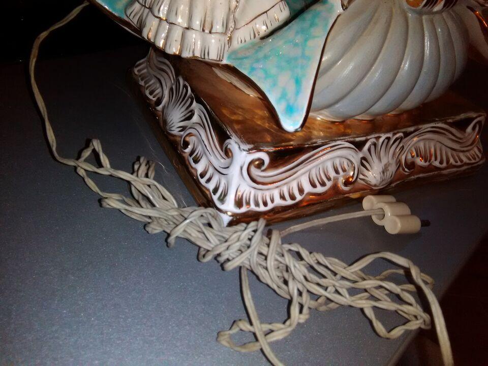 Stupendo lume in ceramica artistica epoca anni 40/50 6