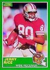 Score Jerry Rice Football Trading Cards Lot