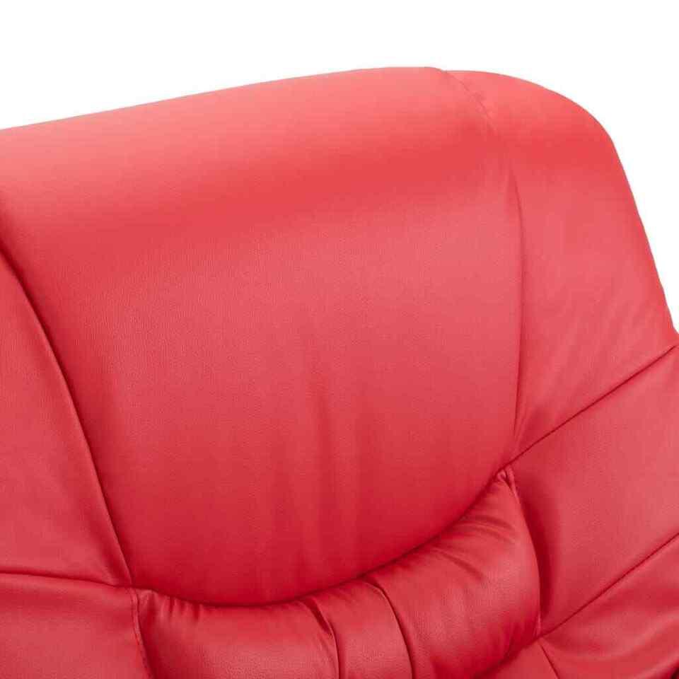 Poltrona Massaggiante Reclinabile Rossa in Similpelle 7