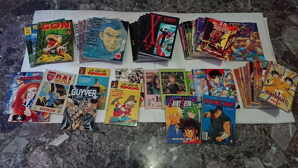 Lotto blocco sequenza manga planet fumetti star comics dynamic