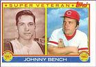 Johnny Bench Lot Baseball Cards