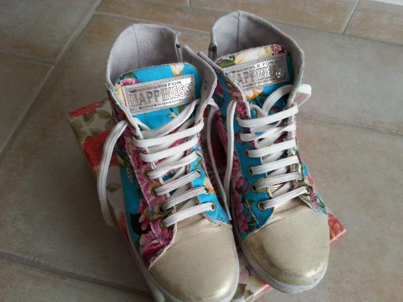Sneakers donna happiness turchese n°38