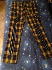 PunkRock Yellow tartan zip pants (Tiger of London)