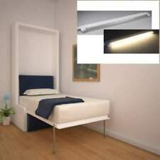 Letto a scomparsa single white+ LUCI LED-LETTI A ROMA