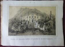 Veduta del Palazzo Badiale di Loreto di Montevergine 1853