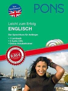 PONS Leicht zum Erfolg Englisch. Mit 3 Audio-CDs (2009, Set mit div. Artikeln)