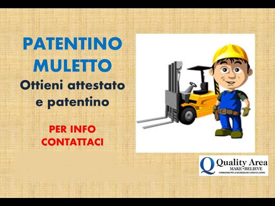 Patentino Carrello Elevatore (MULETTO) - BELLUNO