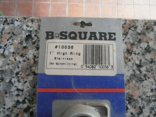 """B square - 1"""" high stainless ring set 2"""