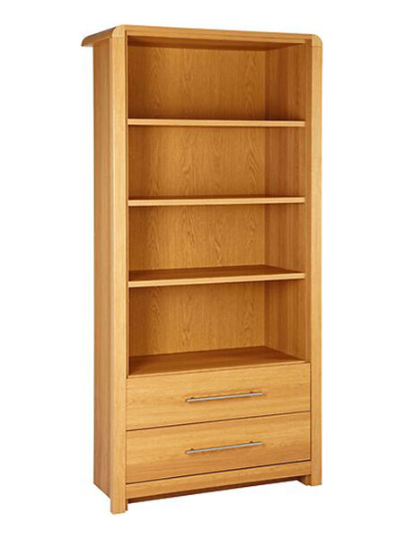 Another Option For A Bookcase Is The Hygena Strand This Made Out Of Colored Wood Oak And Comes In Either Light Or Dark Color