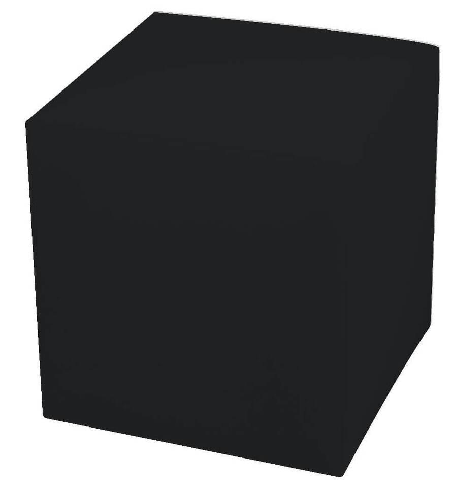 Pouf Poggiapiedi 42x42x44 Cm In Similpelle Avalli Cubo Nero