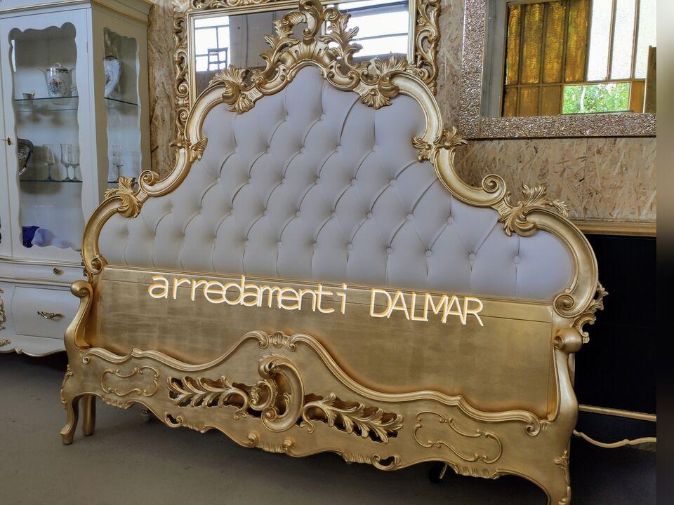 Letto matrimoniale stile barocco foglia oro. 4