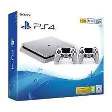 9849063 PS4 Console 500GB D Chassis Silver + 2 Dualshock 4 Silver V2