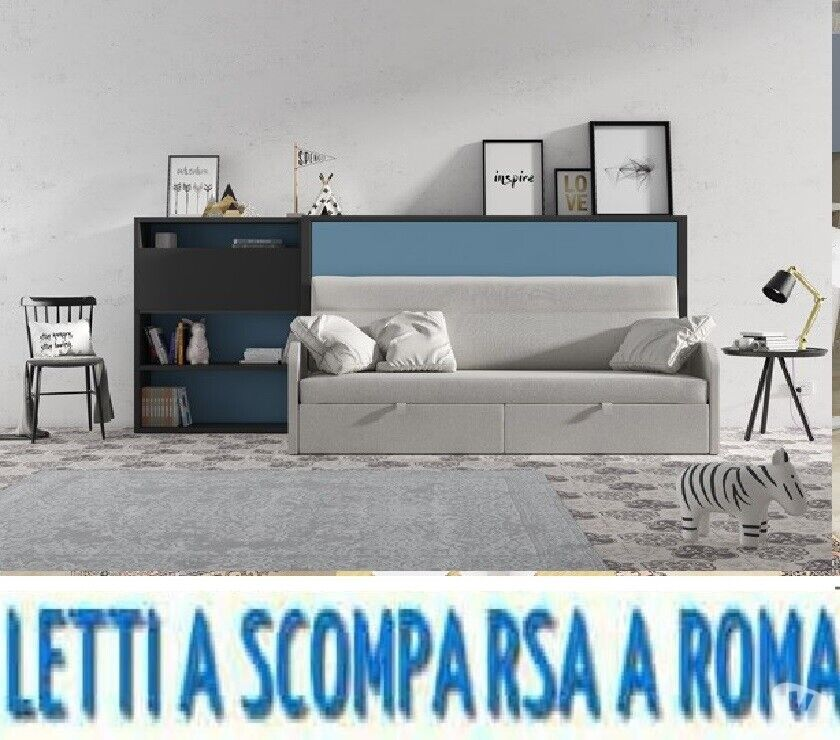 Letto a scomparsa divano salone 6-letti a roma-via gallia 92
