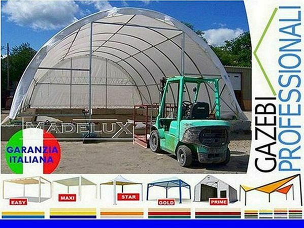 Capannone 20x9 deposito rotoballe agritunnel PVC 2