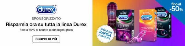 Risparmia ora su tutta la linea Durex