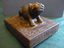 Chinese Paperweight Hand Carved Stone - 镇 - Feline