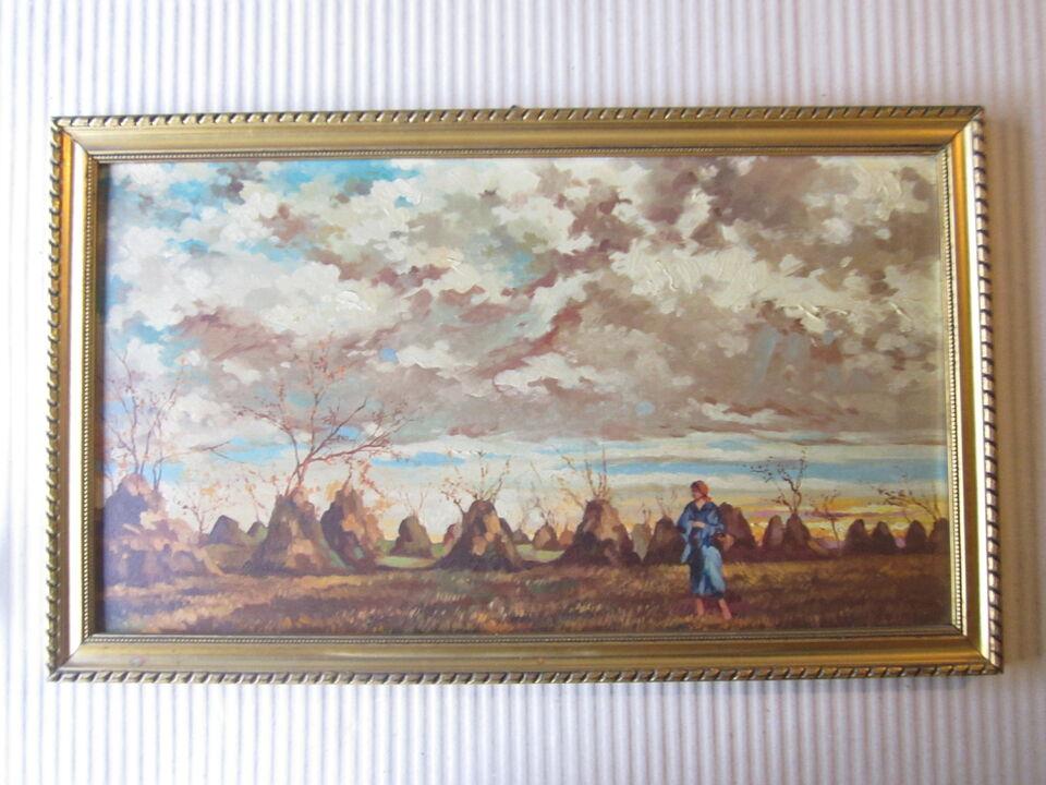 Dipinto olio su tela - Donna tra gli alberi