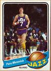 Topps Pete Maravich Utah Jazz Basketball Trading Cards