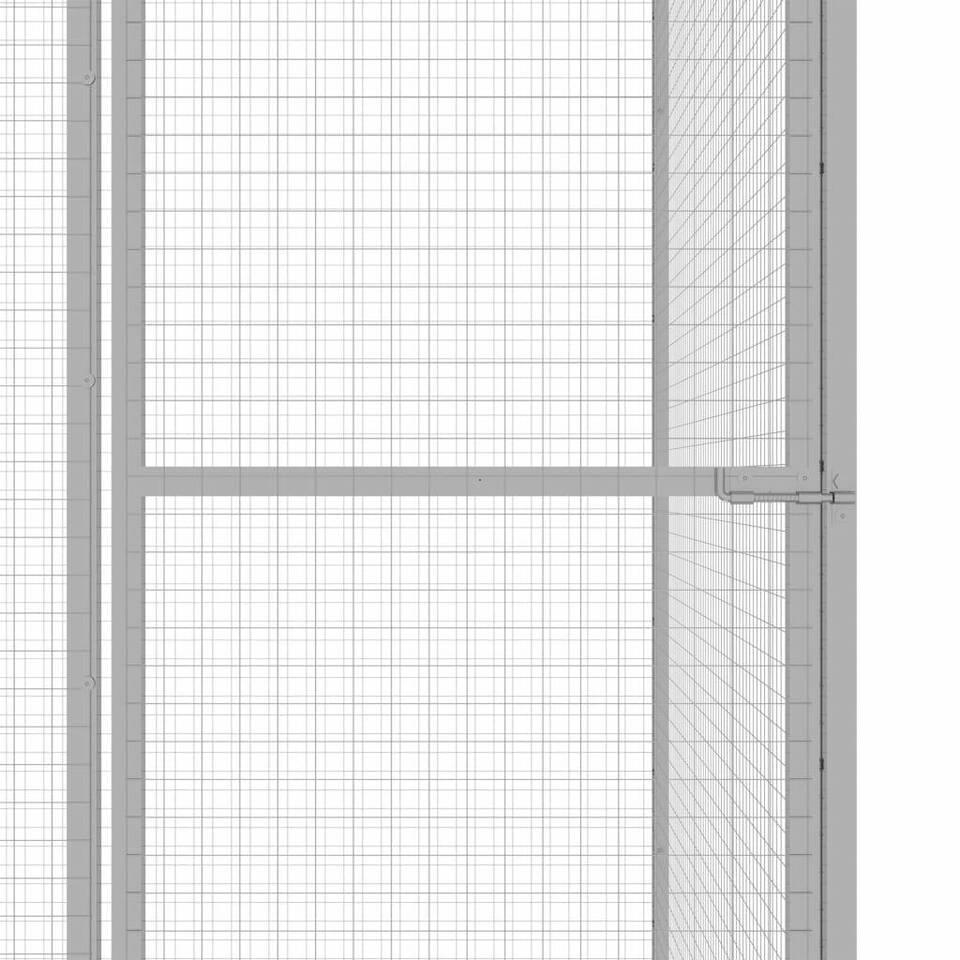 Gabbia per Gatti 1,5x1,5x1,5 m in Acciaio Zincato 4