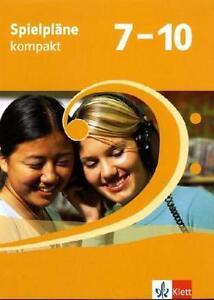 Spielpläne kompakt. Schülerbuch 7. bis 10. Klasse (2010, Set mit diversen Artik…