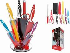 Kit coltelli lame ceramica set 8 pz antiaderenti con ceppo espositore