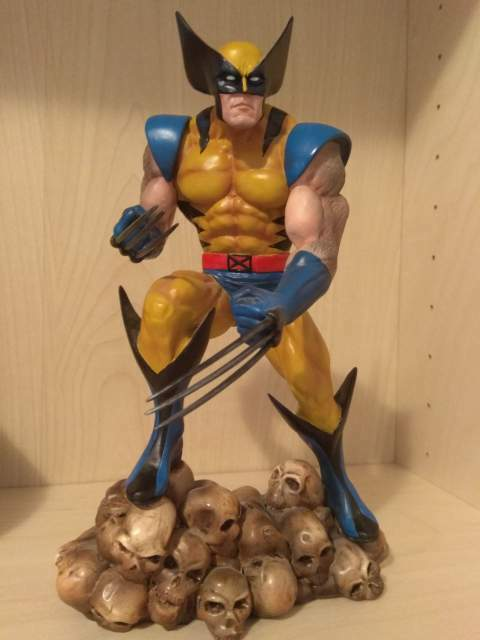 Wolverine on skull statua diamond select no bowen sideshow rara