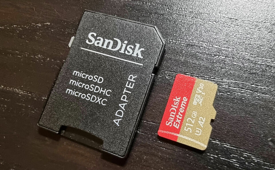 Micro SD 512GB Sandisk Extreme 160 MB/s UHS3 V30 con adattatore
