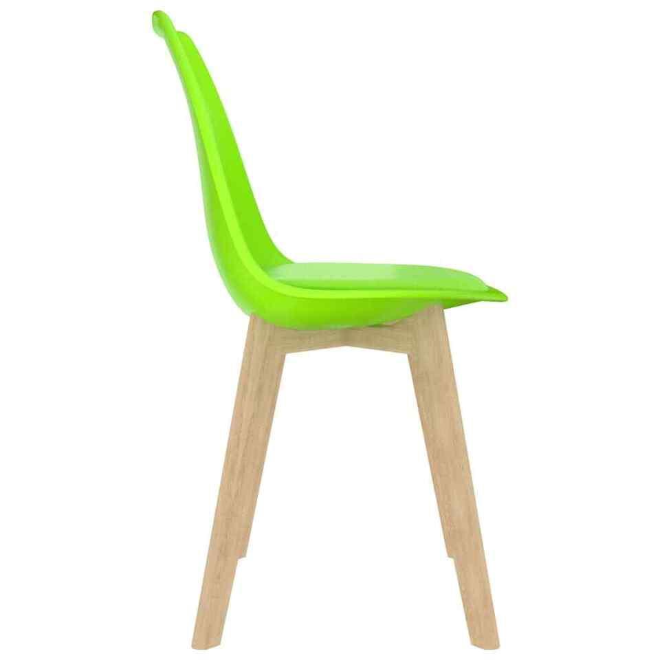 Sedie da Pranzo 6 pz Verdi in Plastica 4