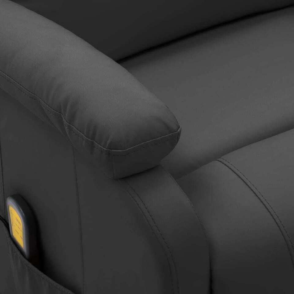 Poltrona Massaggio Elettrica Reclinabile Antracite Similpelle 5