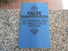 False i.d.-problem & tech options manual