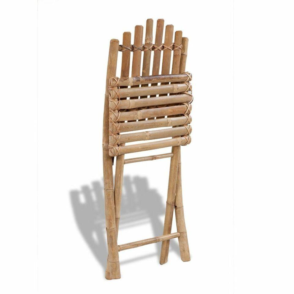 Sedie da Giardino Pieghevoli 2 pz in Bambù 2