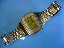 Seiko pan am versione gold quartz lcd vintage 70'