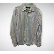 Camicia uomo guess marciano bianca righe rose gialle