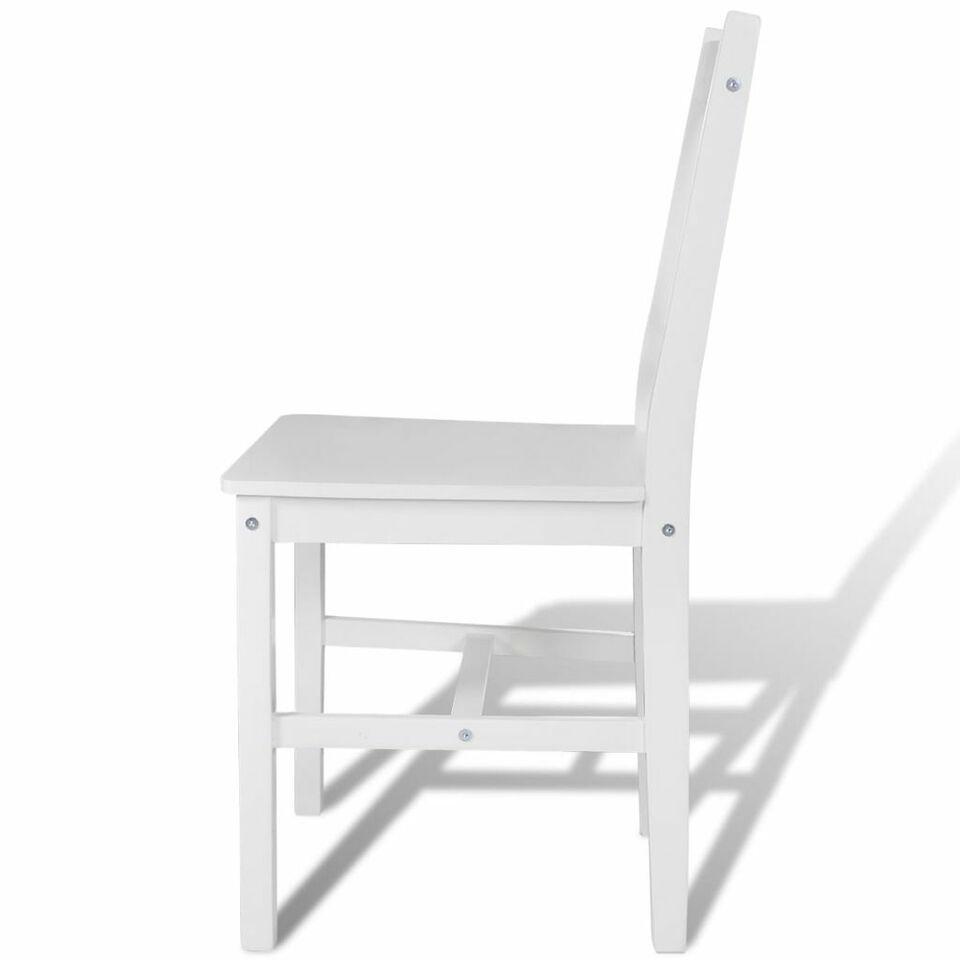 Sedie da Pranzo 6 pz Bianche in Legno di Pino 4