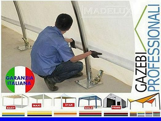 Capannone 20x9 deposito rotoballe agritunnel PVC 5