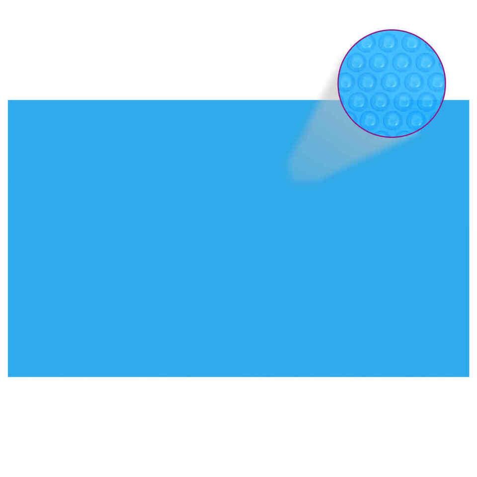 Copripiscina Rettangolare 500x300 cm in PE Blu