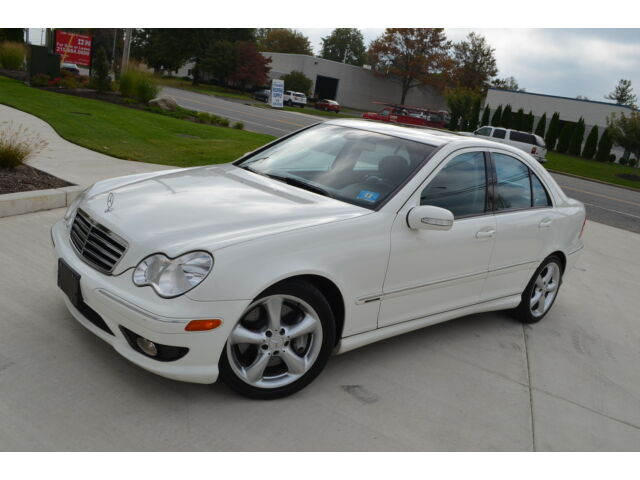 2006 mercedes benz c230 kompressor sport white on black for Mercedes benz c class 2006 price