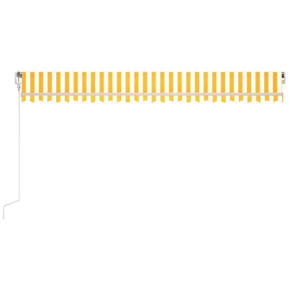 Tenda da Sole Retrattile Automatica 500x300cm Gialla e Bianca 4