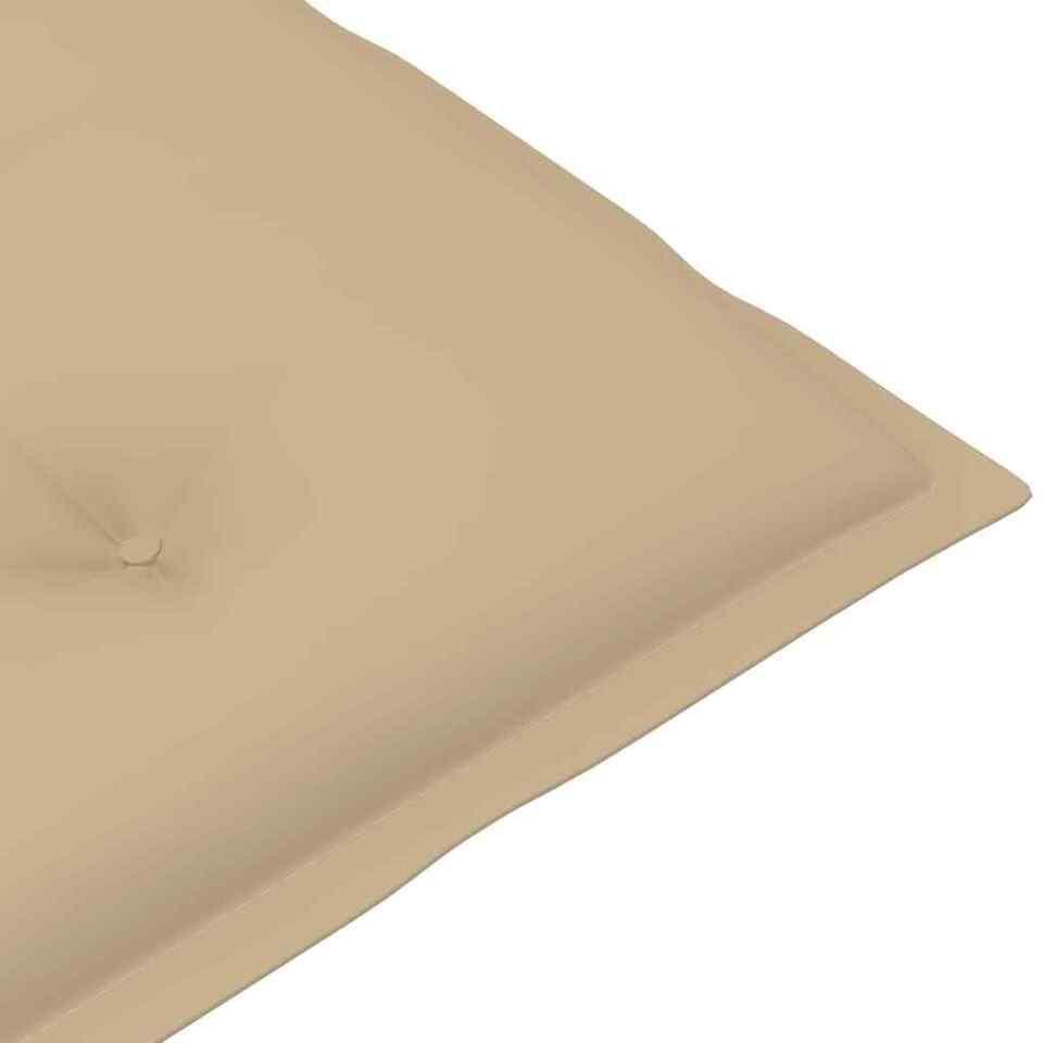 Cuscini per Sedie da Giardino 6 pz Beige 120x50x7 cm 5