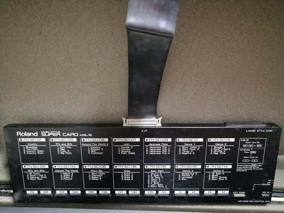 Roland Music Style Super Card Msl-15